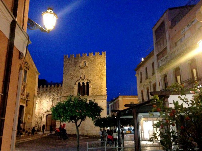 Taormina nocą zima