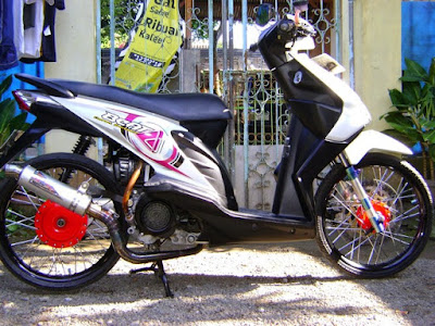 Modif Beat FI Putih Ring 17 Simple Racing