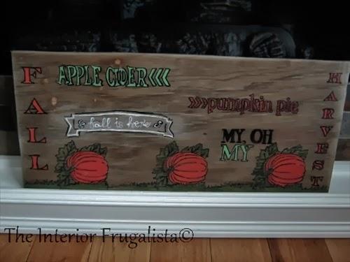 DIY Fall Harvest Sign