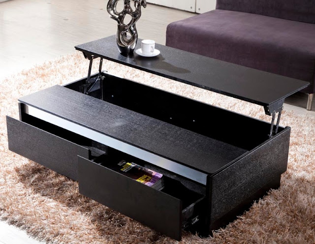 Futuristic Black Coffee Table