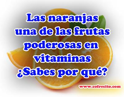 las naranjas fuentes de vitaminas