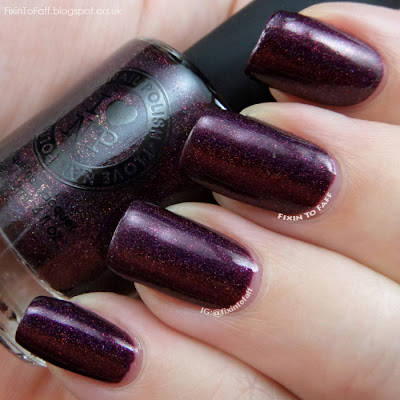 Swatch and review of ILNP Black Orchid.