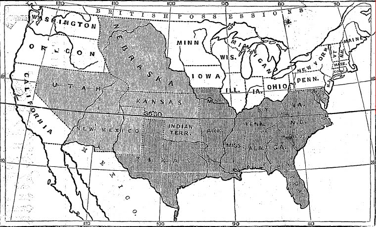 Antique Prints Blog Maps the KansasNebraska Act