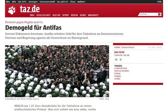 Antifa Bezahlt