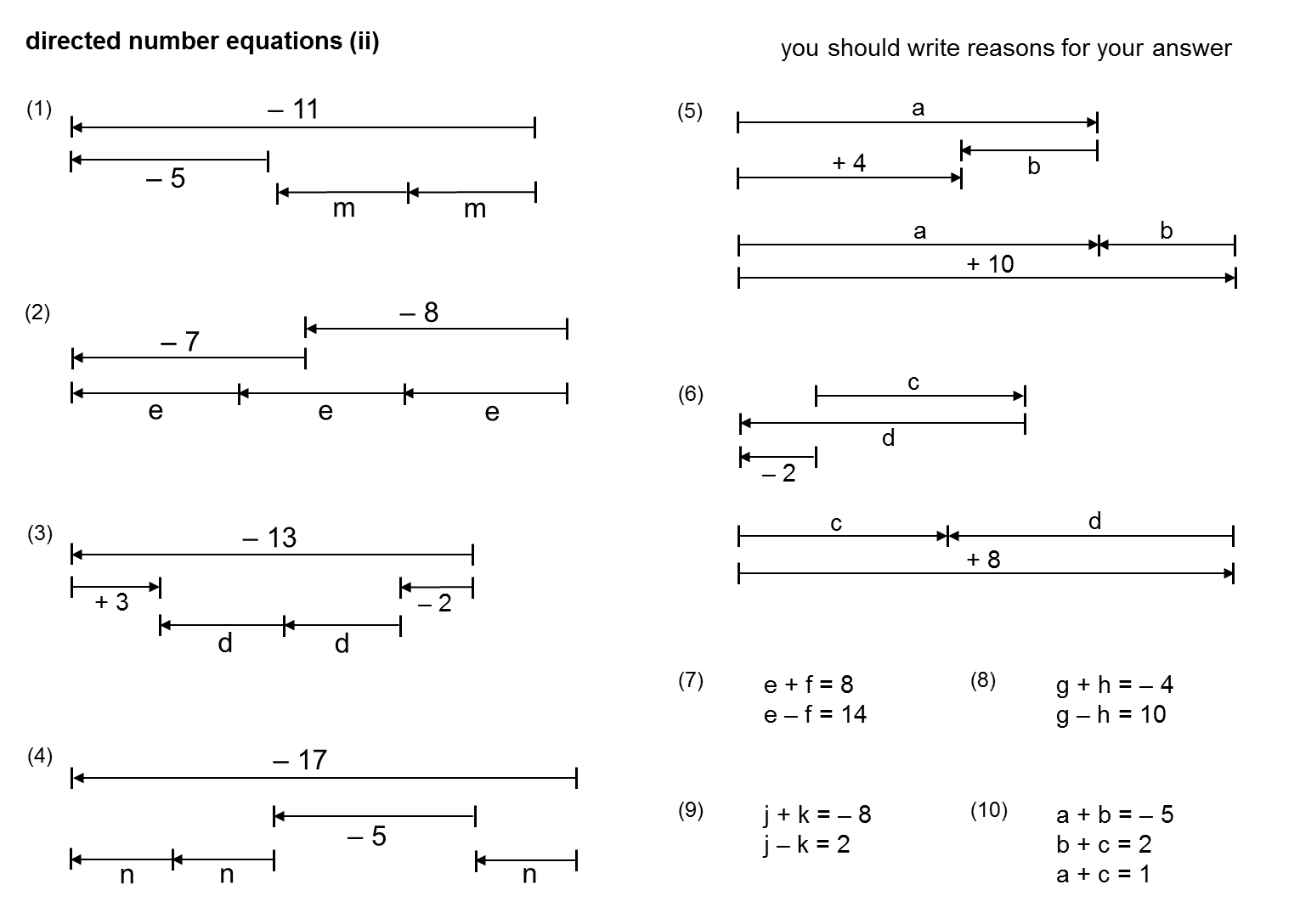 Median Don Steward Mathematics Teaching Directed Number Equations