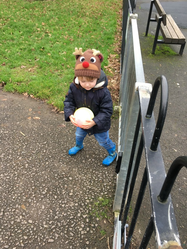 Our-weekly-journal-16th-jan-2017-toddler-holding-a-ball-next-to-a-gate
