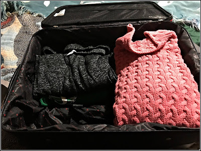 September 13, 2018 Packing in anticipation of a visit with family