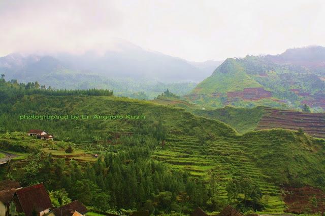 Pemandangan pegunungan di sekitar Guci.