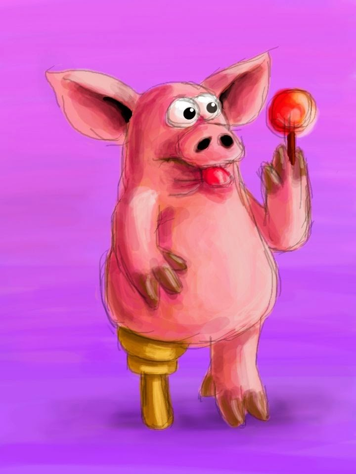 Funny pig with a wooden leg joke