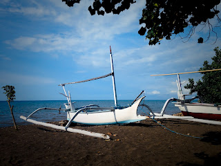 Fishing Boats On The Beach Of Seririt Village North Bali