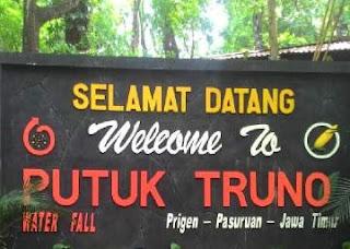Papan Nama Air Terjun Putuk Truno