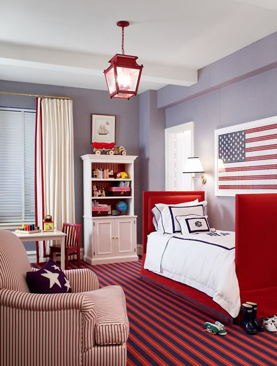 captivating red boys bedroom ideas | Indigo Obsession: Ashley Whittaker Boys Room