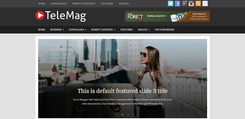 TeleMag Free Blogger Template