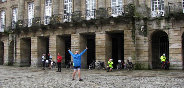 chegada no Caminho de Santiago de Compostela