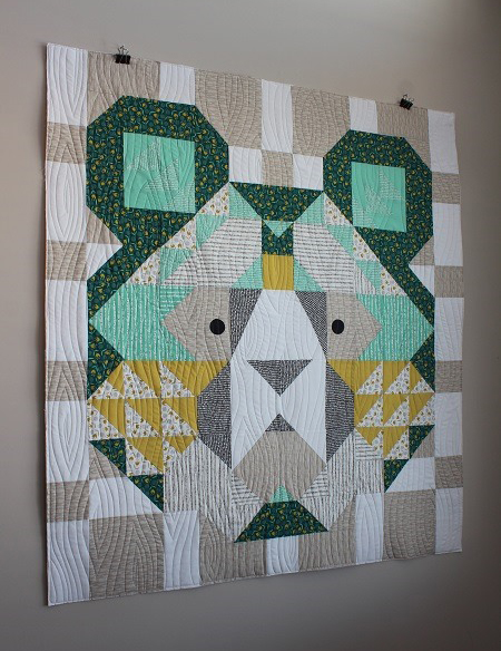 Big Sky Bear Quilt Free Pattern