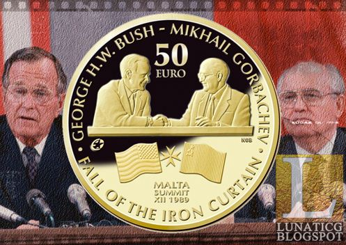 Bush Gorbachev Coins Issued By Central Bank Of Malta