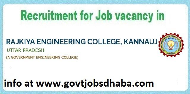 REC Kannauj Faculty and Non-Teaching vacancy 2017 at @www.govtjobsdhaba.com