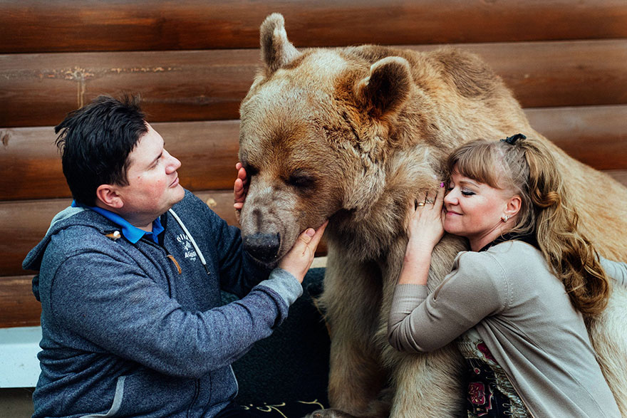 "Russian Couple Adopted An Orphaned Bear 23 Years Ago, And They Still Live Together - ""He absolutely loves people and is a really sociable bear"""