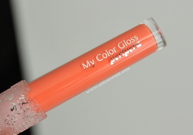 Review: Peripera My Color Gloss 6 - Chewing orange
