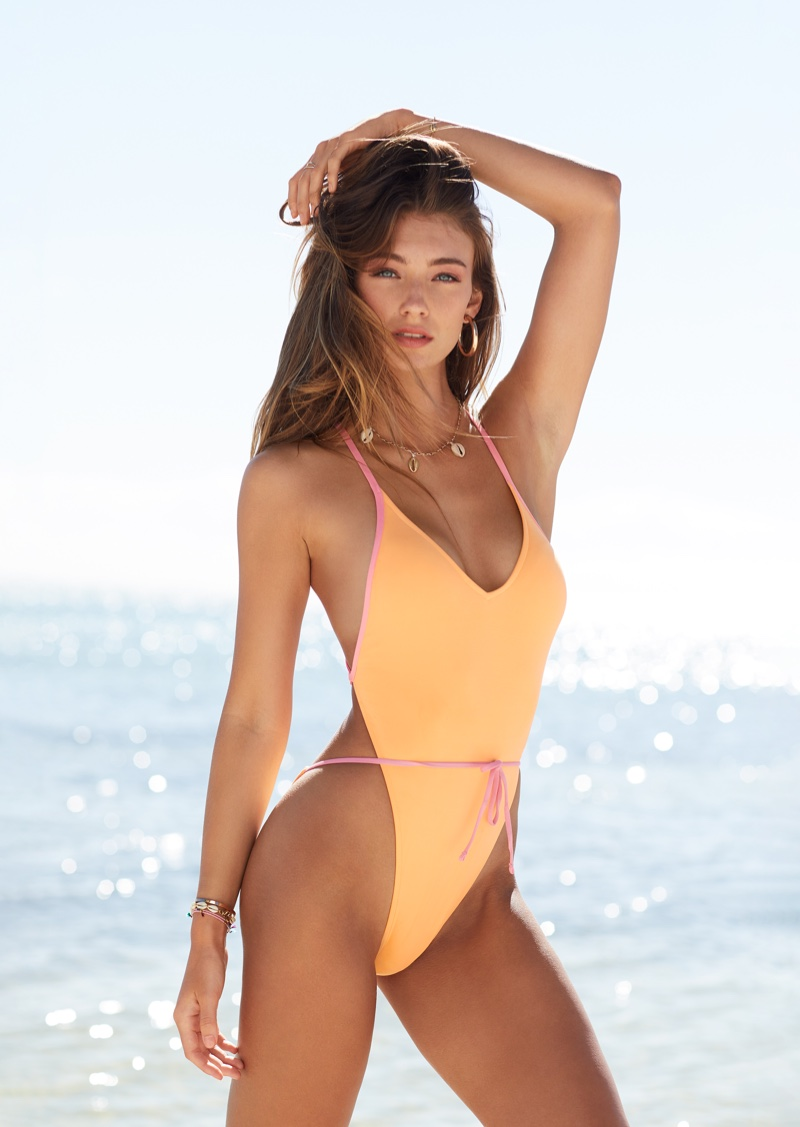 Lorena Rae poses for Victoria's Secret Swim 2019 campaign