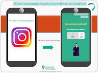Aprender portugues onlina con instagram