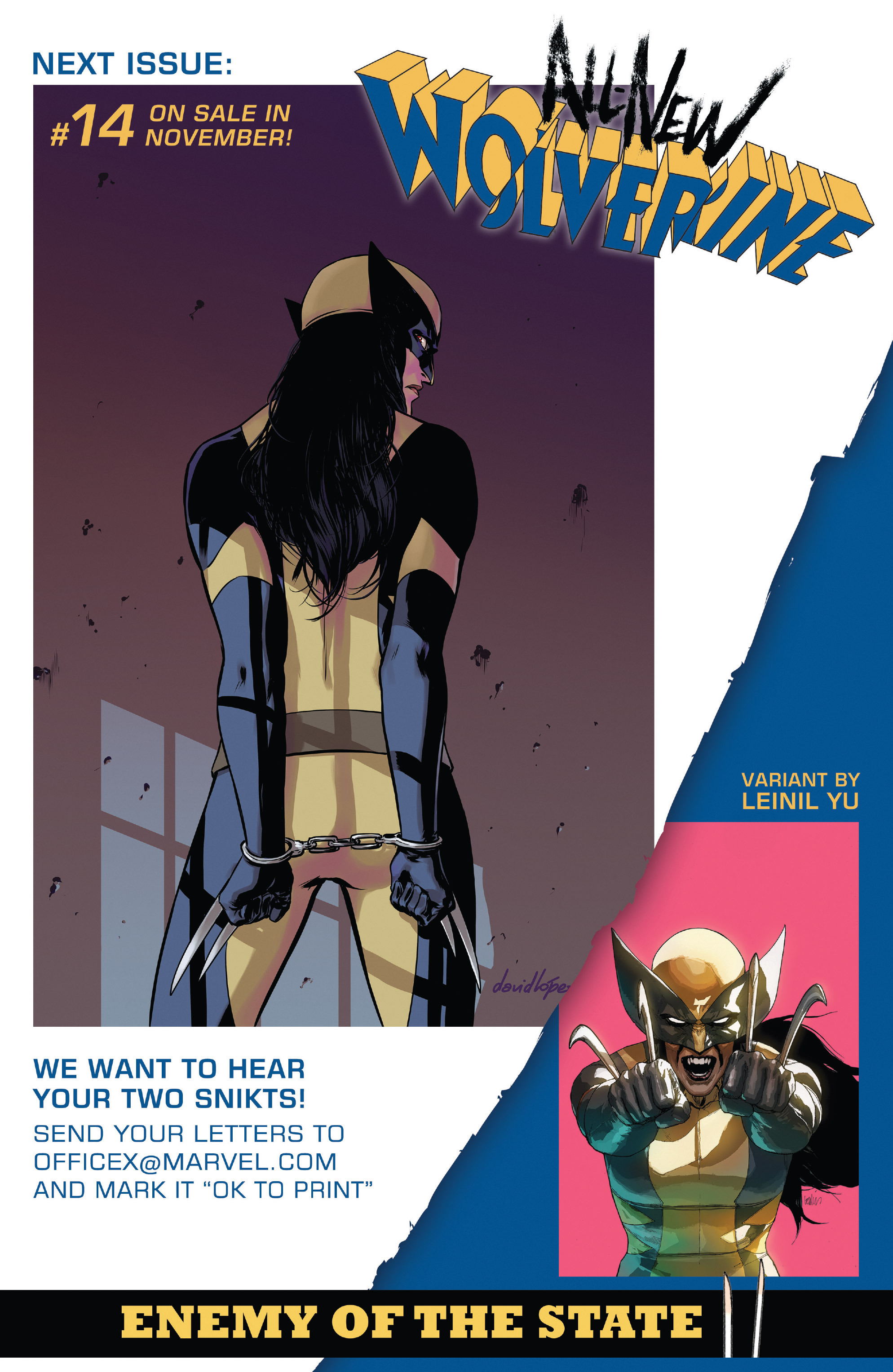Read online All-New Wolverine (2016) comic -  Issue #13 - 22