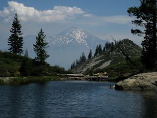 Heart Lake with Mt. Shasta in the distance, near Mt. Shasta, California