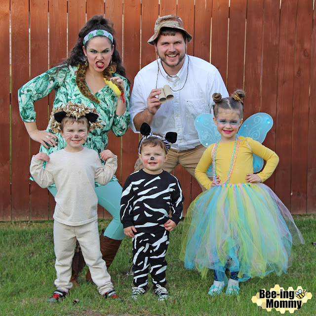 DIY Safari theme costume, Safari costumes, family costume, family theme costume, easy costume, Halloween costume, homemade costume, zoo theme costume, DIY Halloween costume, group costume, large group costume idea, zoo animal costume, DIY animal costume, animal costumes,  safari guide costume, snake costume, lion costume, zebra costume, butterfly costume, DIY safari guide costume, DIY snake costume, DIY lion costume, DIY zebra costume, DIY butterfly costume,