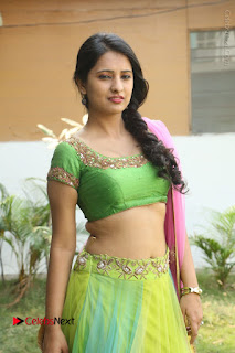 Actress Nikitha Bisht Stills in Lehenga Choli at Pochampally Ikat Art Mela Launch  0160.JPG