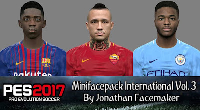 PES 2017 MiniFacepack International v3 by Jonathan Facemaker