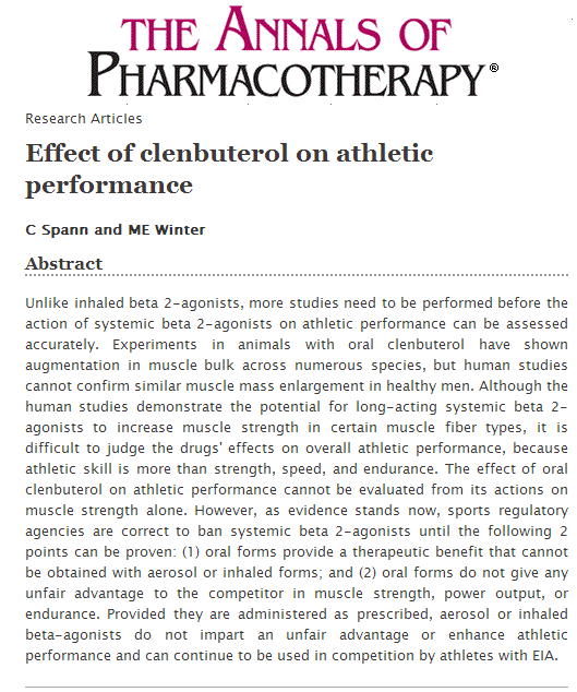 Clenbuterol as a fat loss agent  By Vic Goyaram