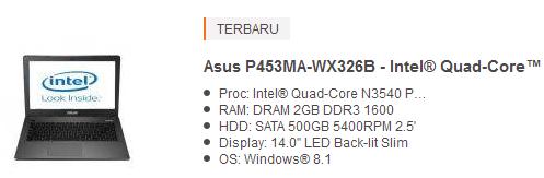 harga laptop asus 4 jutaan terbaru