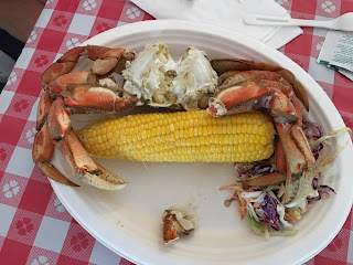 crab and corn plate crabfest port angeles