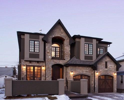 Fachadas de piedra fachadas de casas de piedra y ladrillo - Piedras para fachadas de casas ...