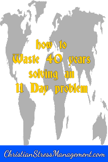 How not to spend 40 years on an 11 day problem like the Israelites
