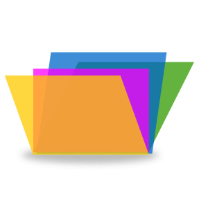 Multi-colored File Folders