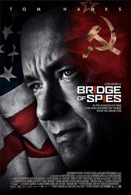 Bridge of Spies, Movie Poster, Tom Hanks, Directed by Steven Spielberg, also starring Mark Rylance