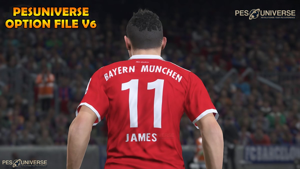 اوبشن فايل PES 2017 PES UNIVERSE OPTION FILE V6 2017/2018 DF5dUvMW0AIe8sm