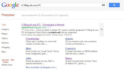 O Blog do seu PC no Google