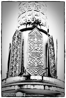 Gambar Tugu Pahlawan, Taman Budaya, Kuching, Sarawak, Malaysia.