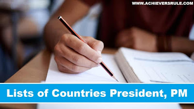 List of countries President & Prime Minister 2017 PDF
