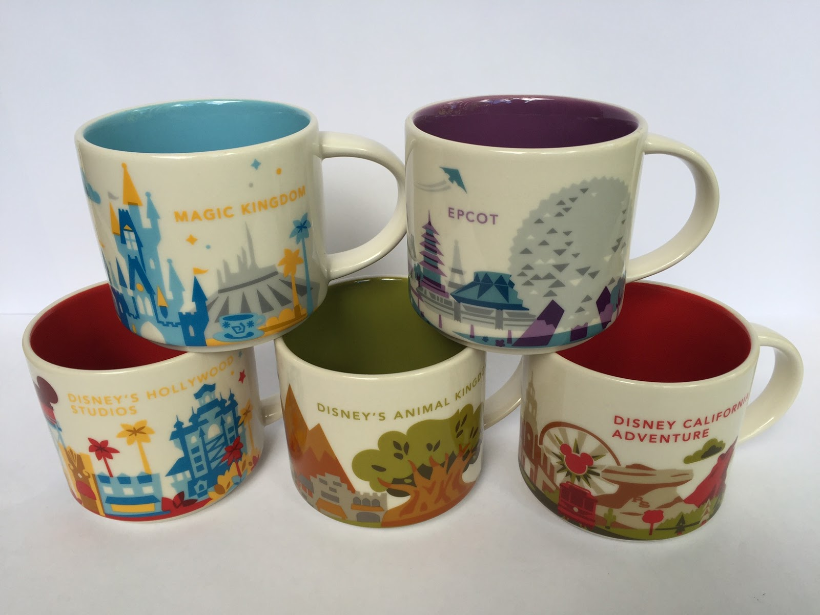 Plus the Magic: Disney Parks and Starbucks- You Are Here mugs