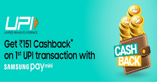 Samsung Pay Mini App Cashback Offer