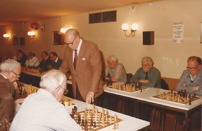 Simultáneas de ajedrez de Angel Ribera en 1984