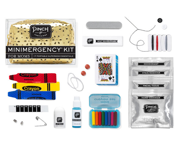 MINIMERGENCY KIT FOR MOMS, pinch provisions