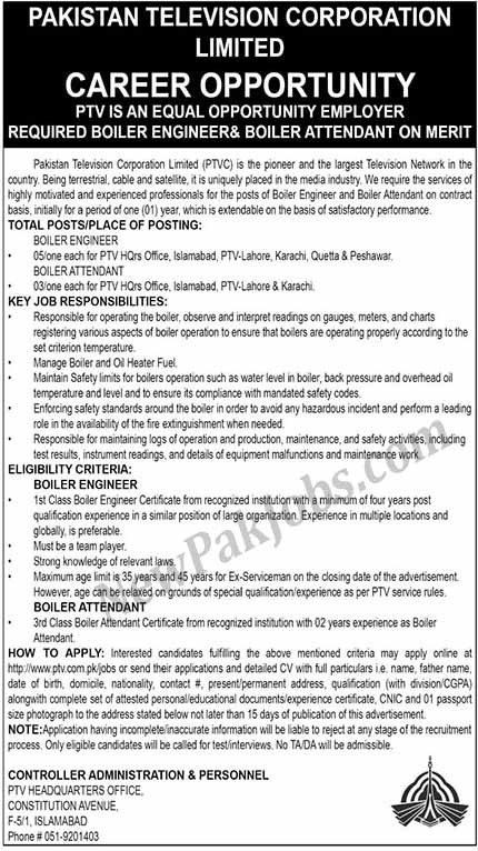 Jobs-in-Pakistan-Television-Corporation