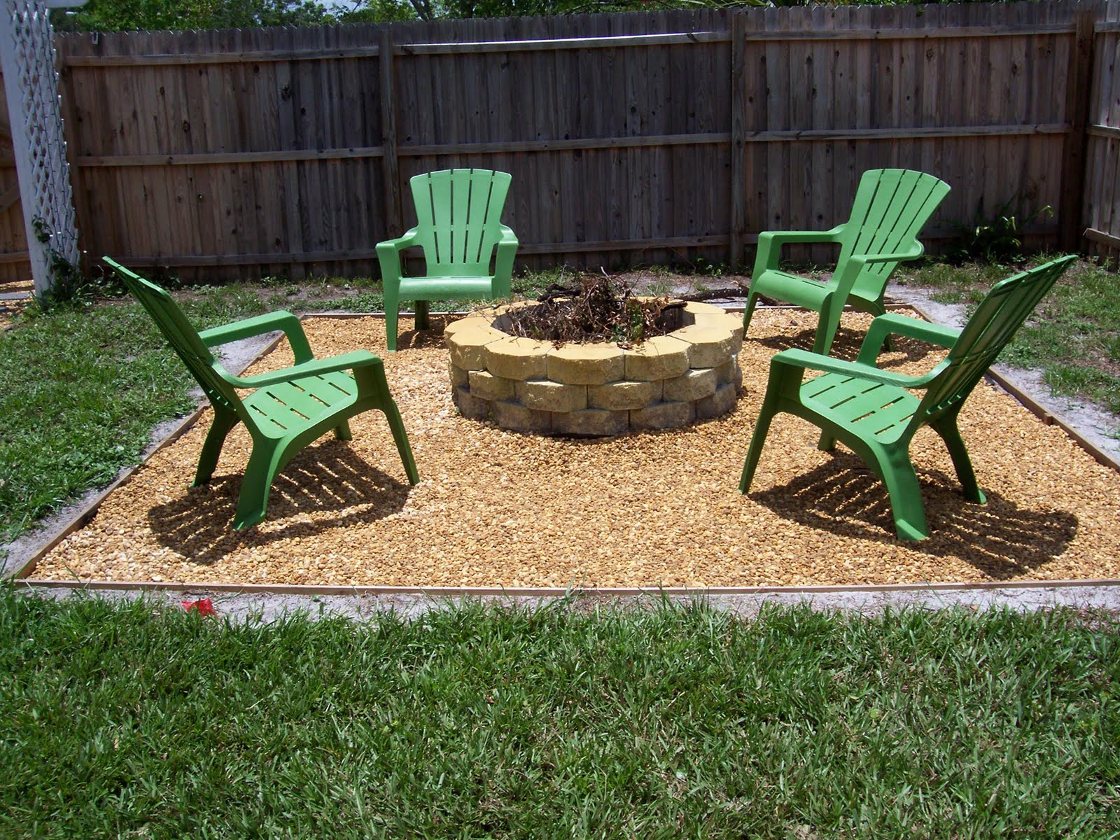 Always a project fire pit happenings - Small backyard fire pit ideas ...