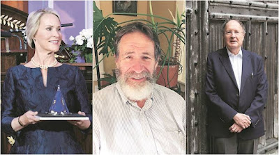 Frances Arnold (left), George Smith (middle) and Gregory Winter (right)