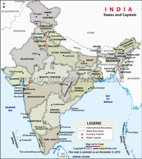 India Map With State Name.Test3 Your Blog Description