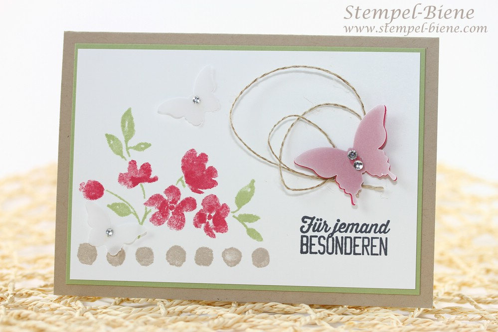 Stampin Up Stempelparty, Stempelpartyprojekt, Stampin up Painted Petals, Sale a bration 2015, Angebote der Woche, Stampin Up Bestellen